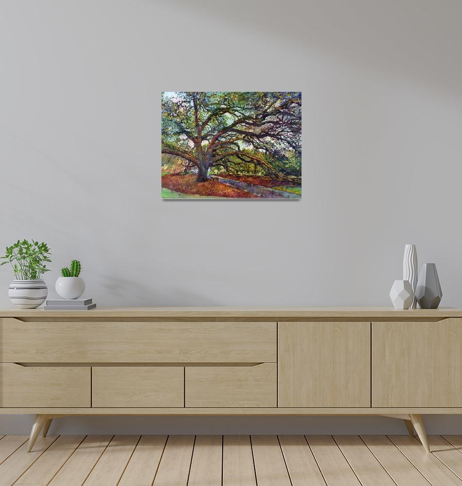 """The Century Oak""  by HaileyWatermedia"