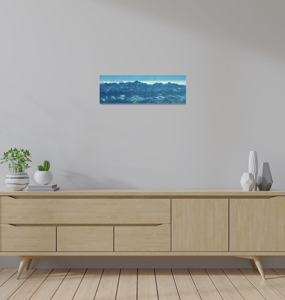 """Ismoil Somoni Peak Panorama Color 3""  (2006) by Liberando4Life"