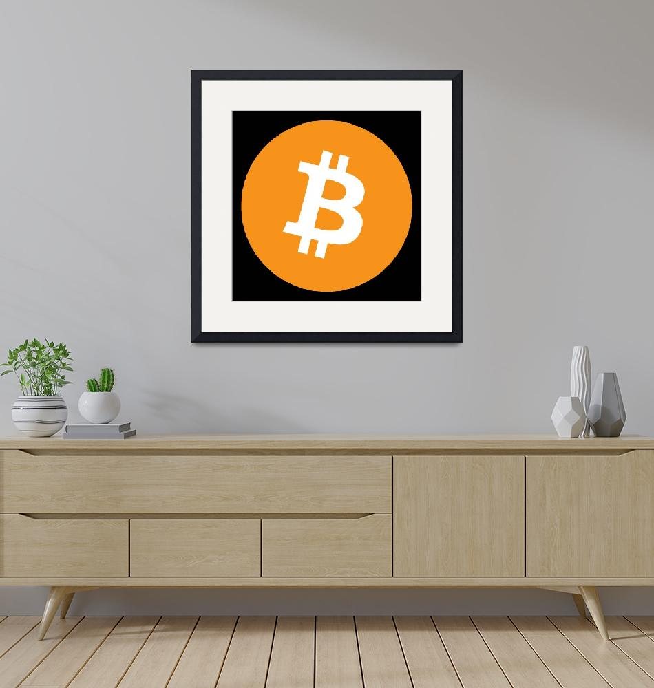 """Bitcoin Crypto Currency Logo""  (2009) by ArtHistory"