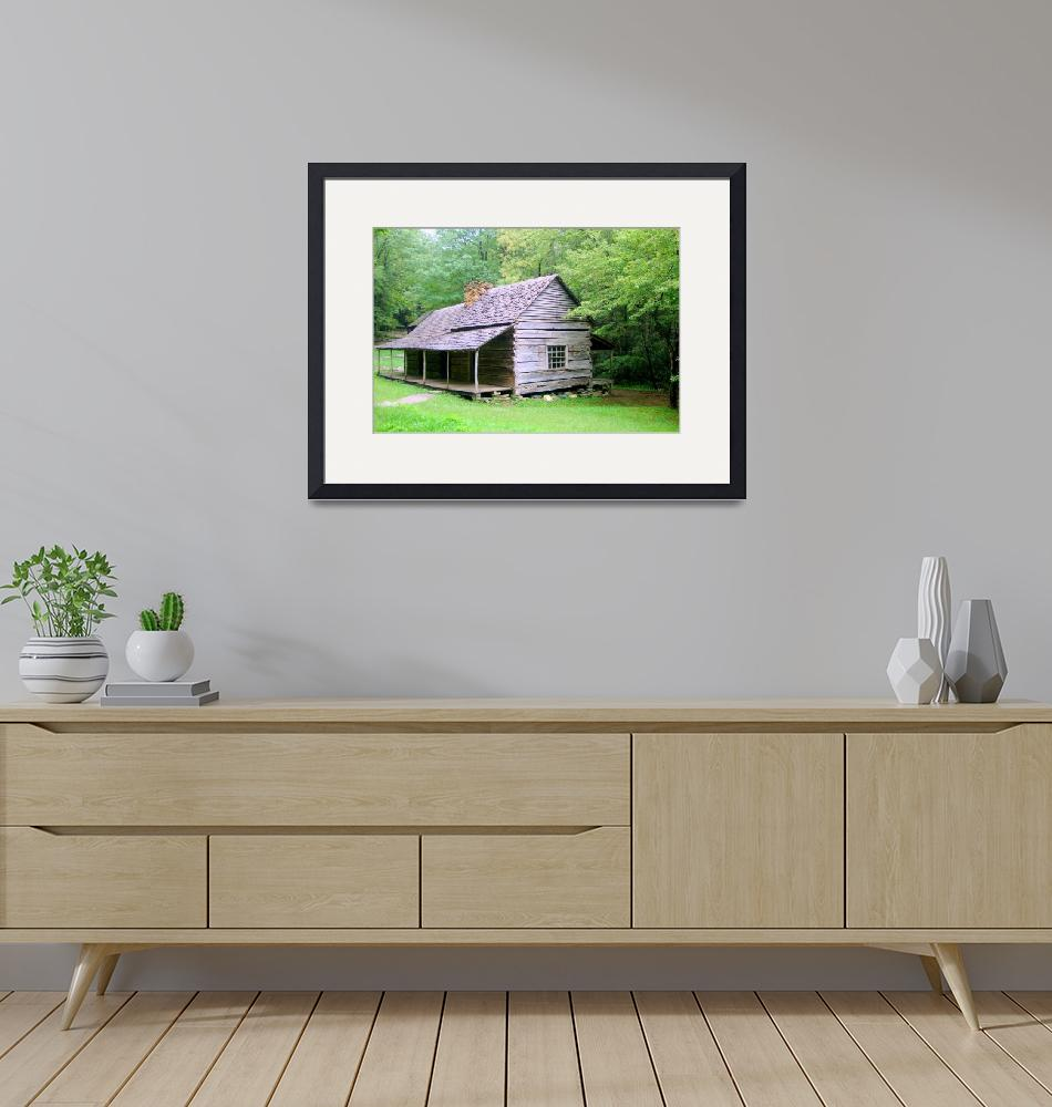 """""""Historic Log Cabin in Tennessee""""  (2008) by Philippa"""