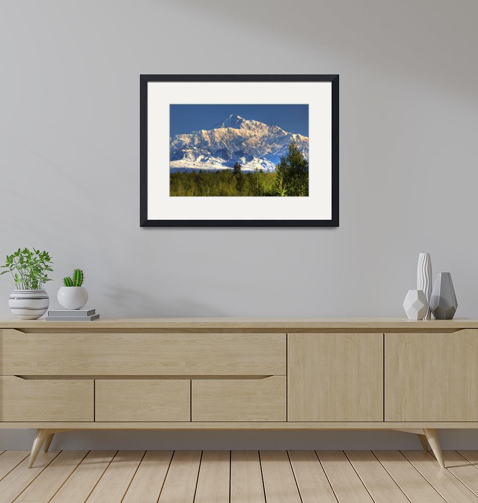 """""""Southside view of Mt. McKinley as seen from Talkee""""  by DesignPics"""