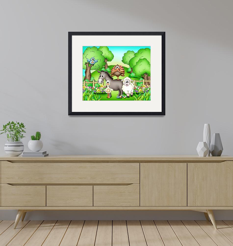 """""""Farm Animals with Donkey""""  (2010) by just4mebooks"""