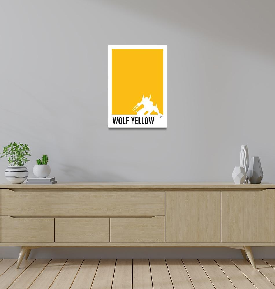 """My Superhero 05 Wolf Yellow Minimal poster""  by Chungkong"