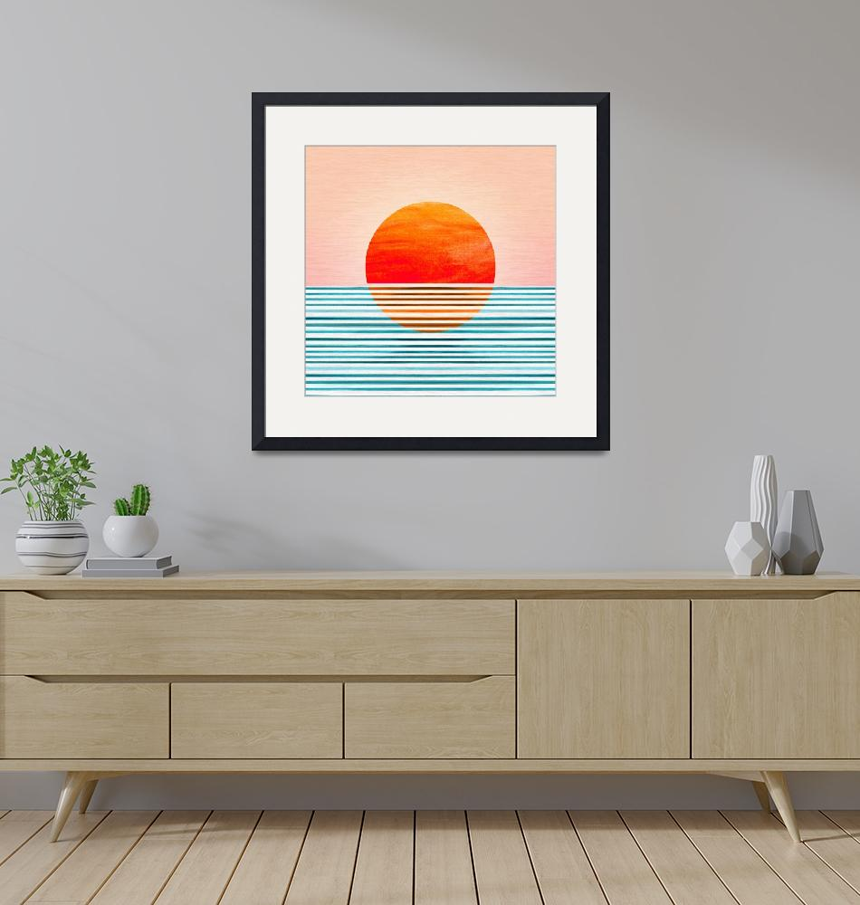 """Minimalist Sunset""  (2020) by moderntropical"