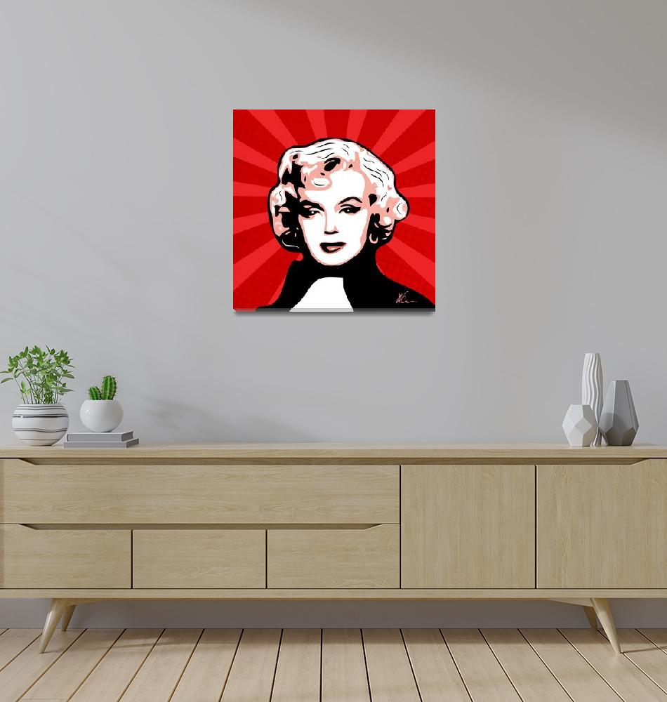 """Marilyn Monroe Pop Art by William Cuccio""  (2018) by wcsmack"