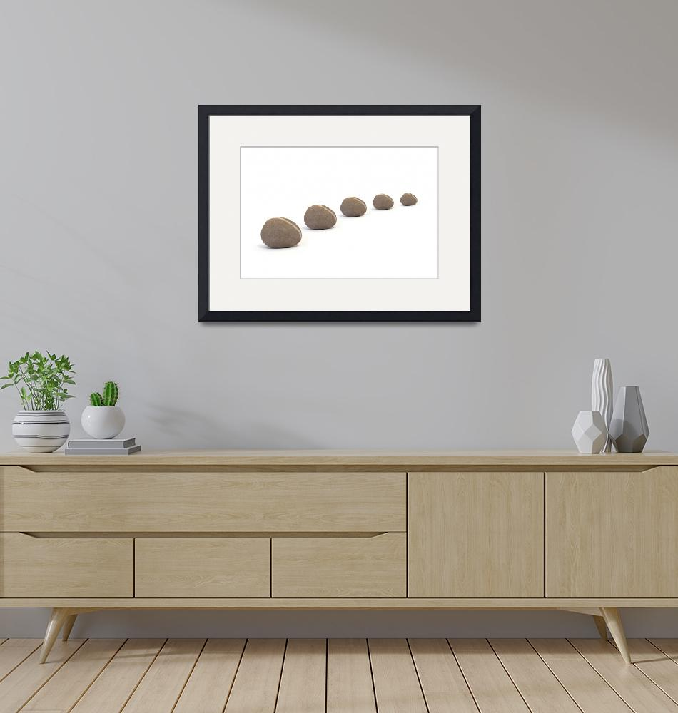 """Five Calm Smooth Pebbles""  (2012) by NatalieKinnear"