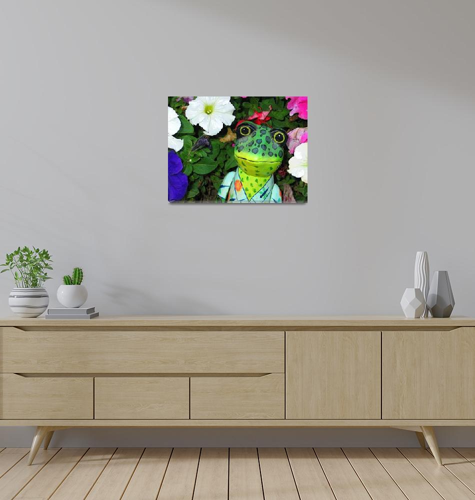 """""""Frog and Flowers""""  (2006) by eye4nature"""