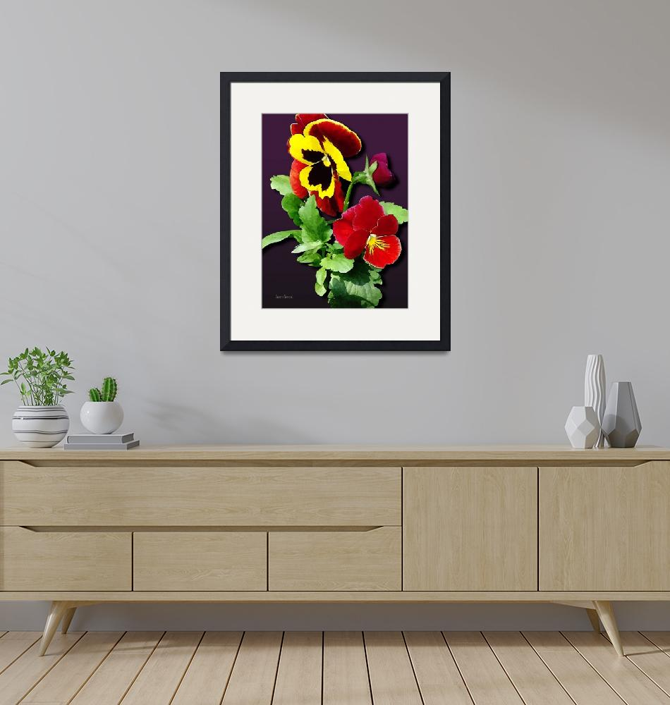 """""""Pansy Family""""  by susansartgallery"""