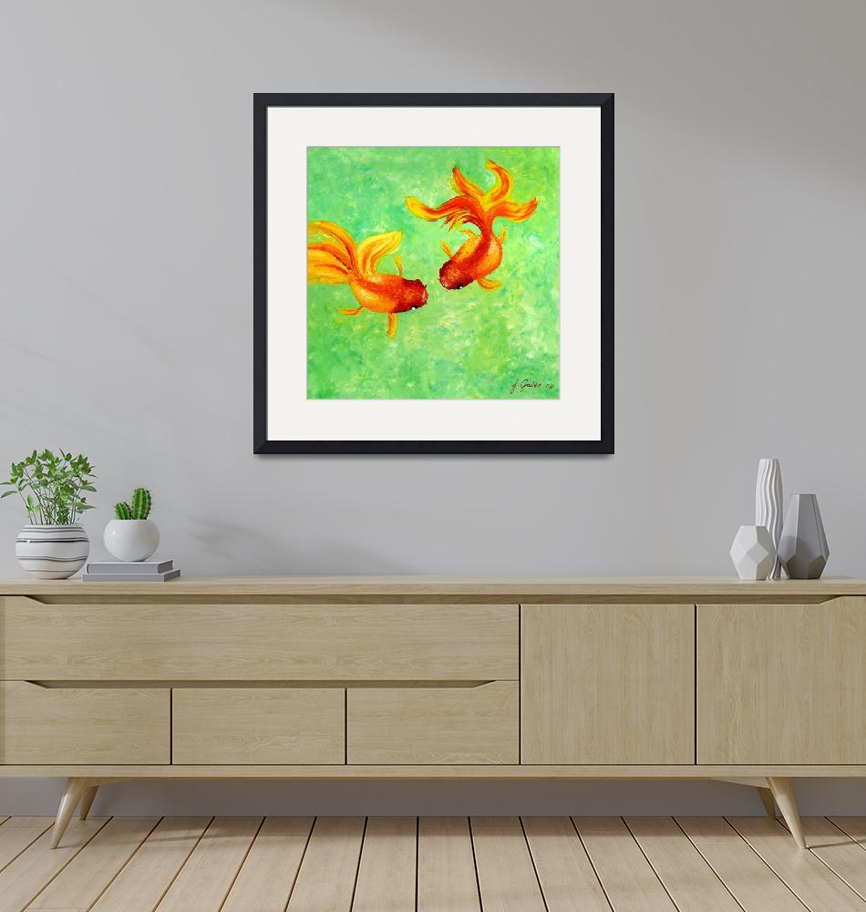 """""""Fish Tango"""" by JorgeGadenFineArts"""