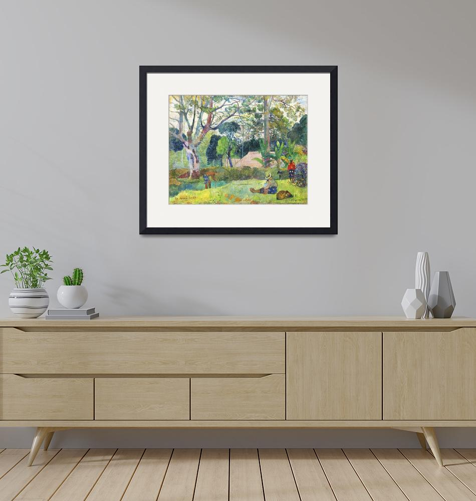 """""""The Big Tree by Paul Gauguin"""" by FineArtClassics"""