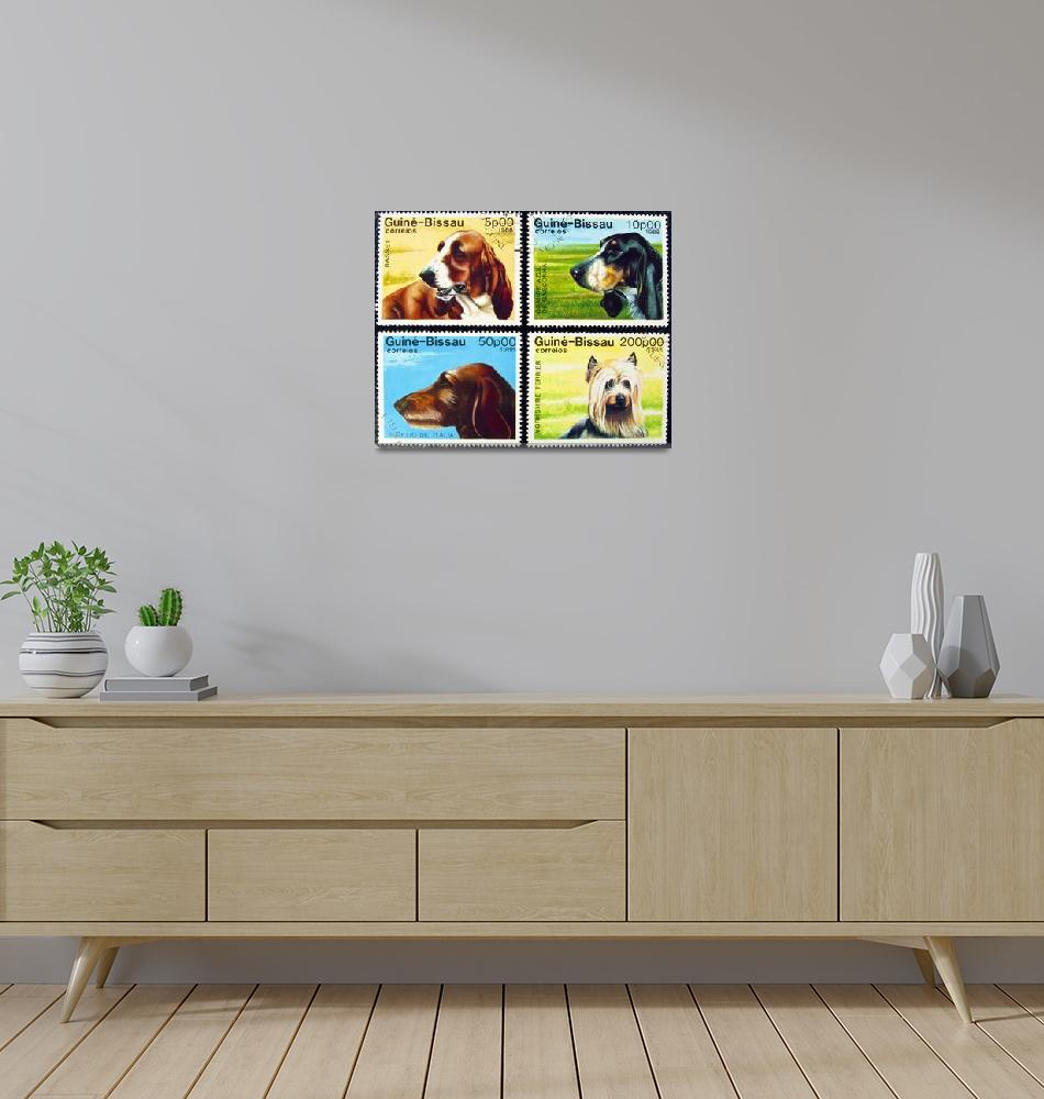 """Collection of dog stamps.""  by FernandoBarozza"