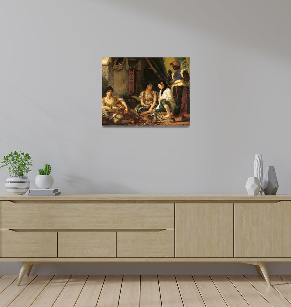 """""""The Women of Algiers in their Apartment Delacroix""""  by fineartmasters"""