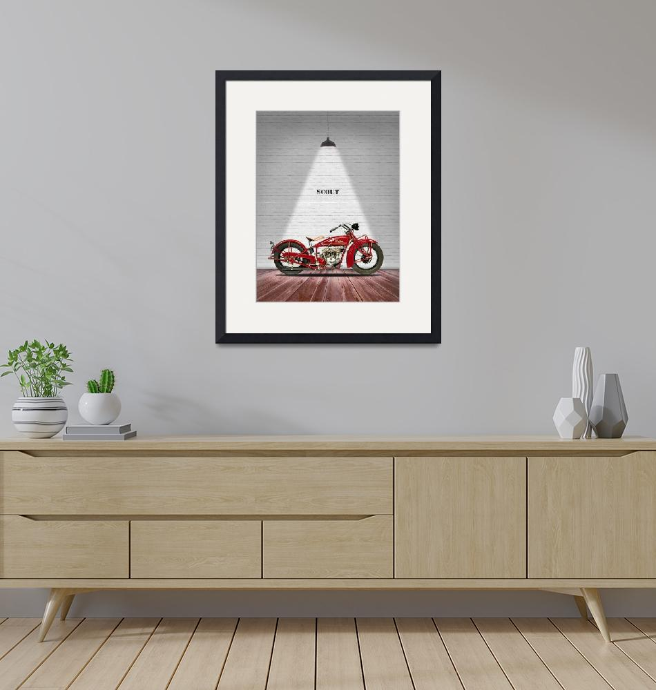 """""""The Scout 101 Vintage Motorcycle""""  by mark-rogan"""
