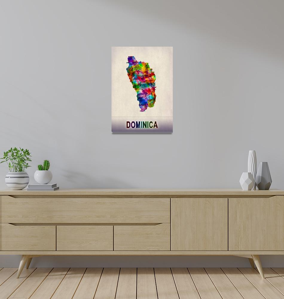 """""""Dominica Map""""  by Towseef"""