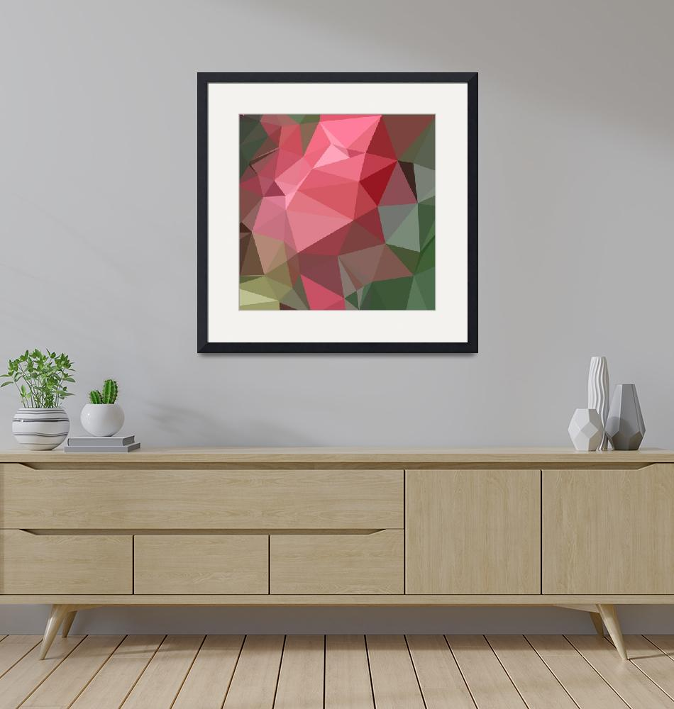 """""""Congo Pink Abstract Low Polygon Background""""  (2015) by patrimonio"""
