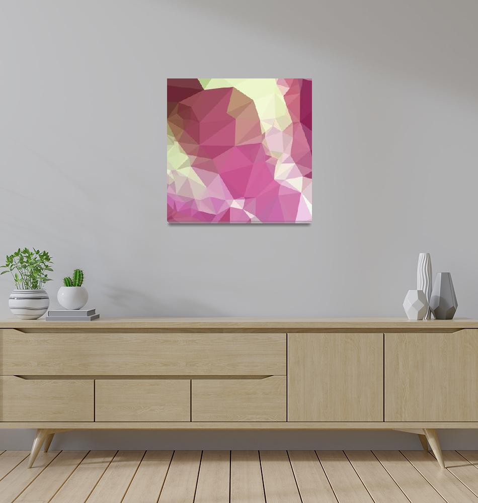 """""""Light Thulian Pink Abstract Low Polygon Background""""  (2015) by patrimonio"""