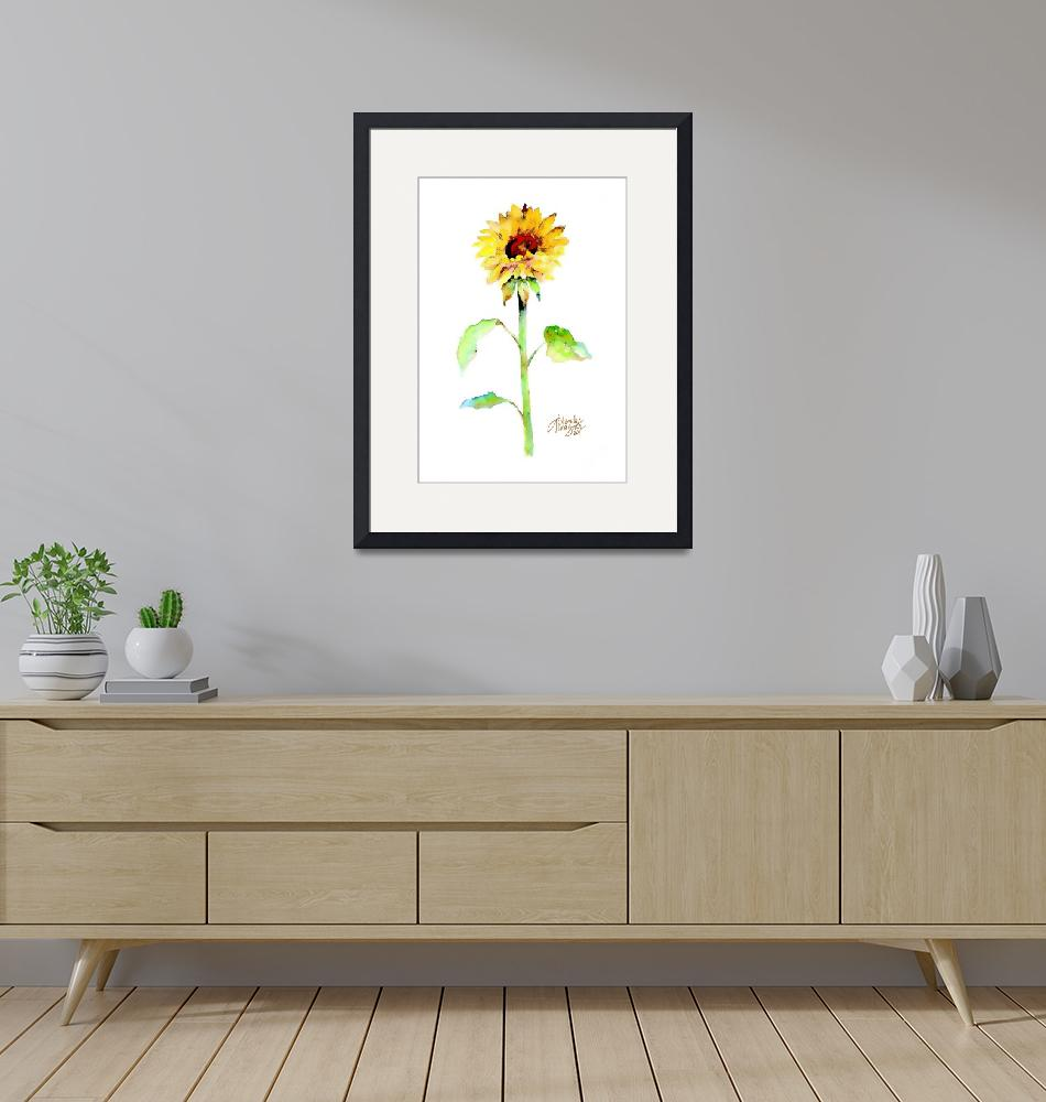 """""""Solo Sunflower""""  (2011) by awagner"""