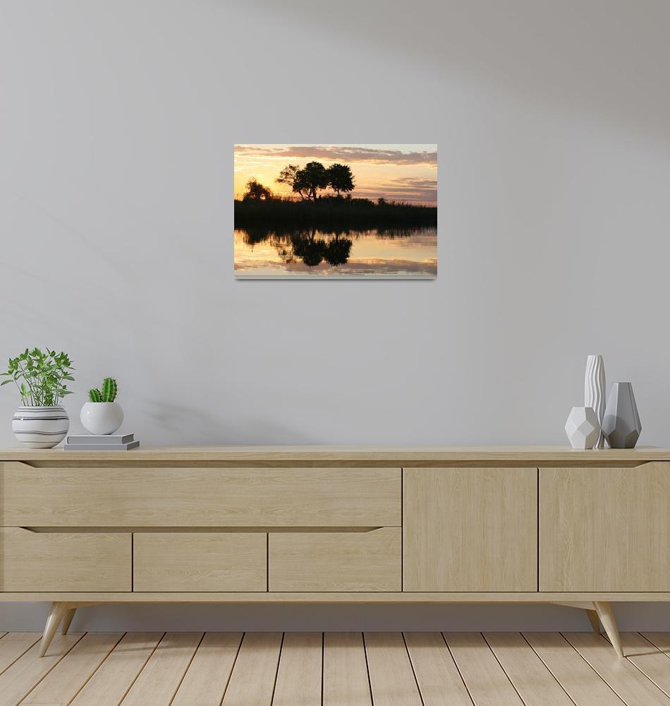 """""""Namibia River Sunset jpg""""  by KarenZukRosenblatt"""