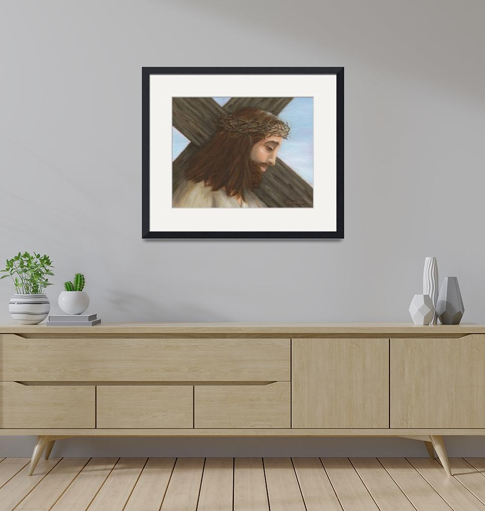 """""""Jesus Carries the Cross""""  (2006) by elainerittler"""
