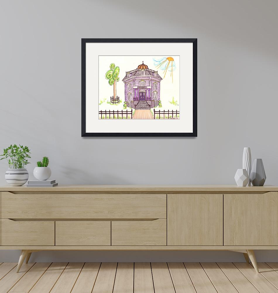 """""""Victorian House in Lavender""""  (2014) by JayneSomogy"""