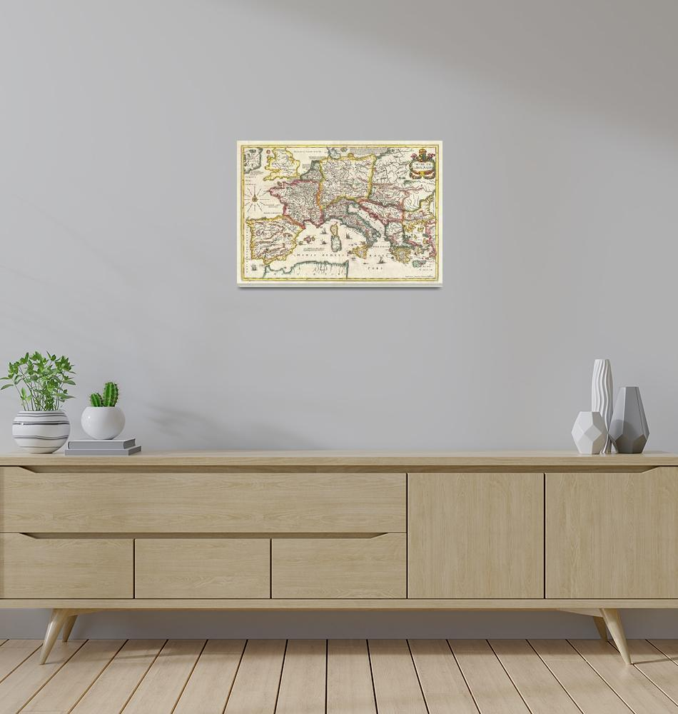 """""""Vintage Map of Europe (1657)""""  by Alleycatshirts"""