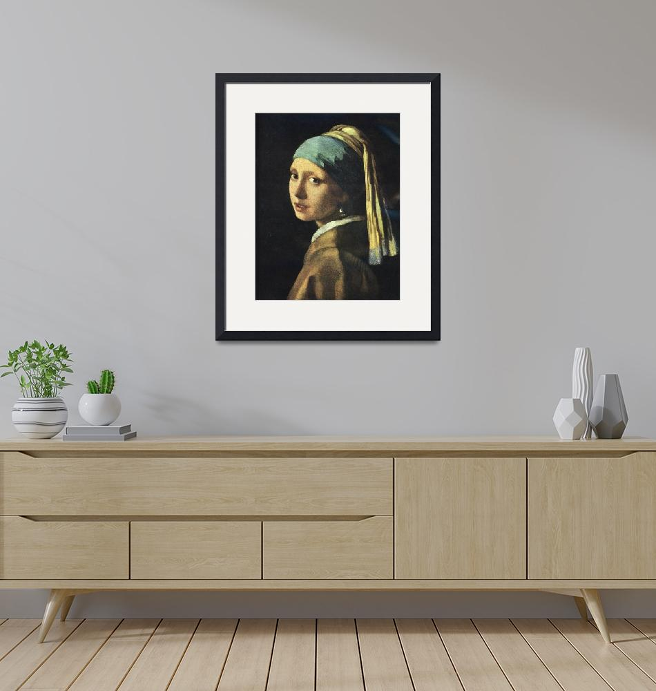 """""""Girl with a Pearl Earring"""" (2008) by birthdaygifts"""