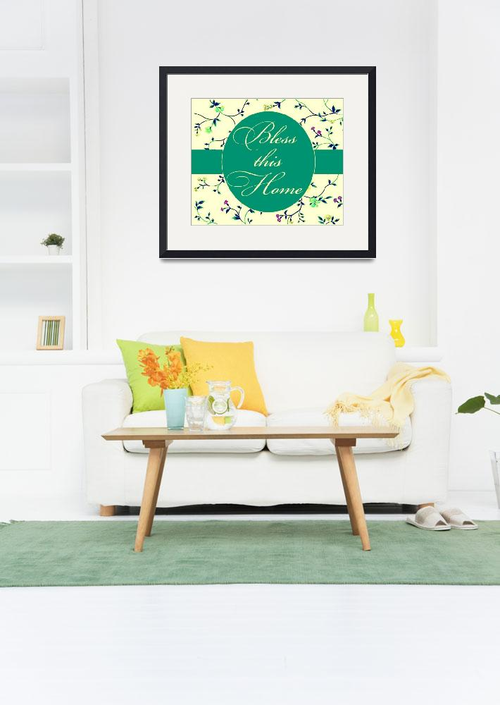 """""""bless this home soft teal""""  by lizmix"""