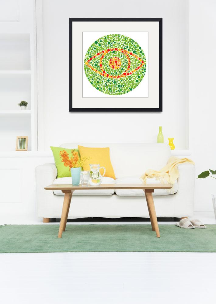 """""""COLOUR BLINDNESS EYE 300dpi&quot  by TheImageZone"""