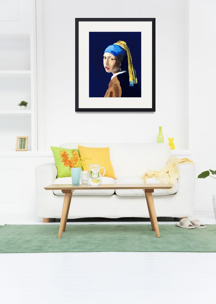 """The Girl with a Pearl Earring after Vermeer&quot  (2009) by RodneyCampbell"