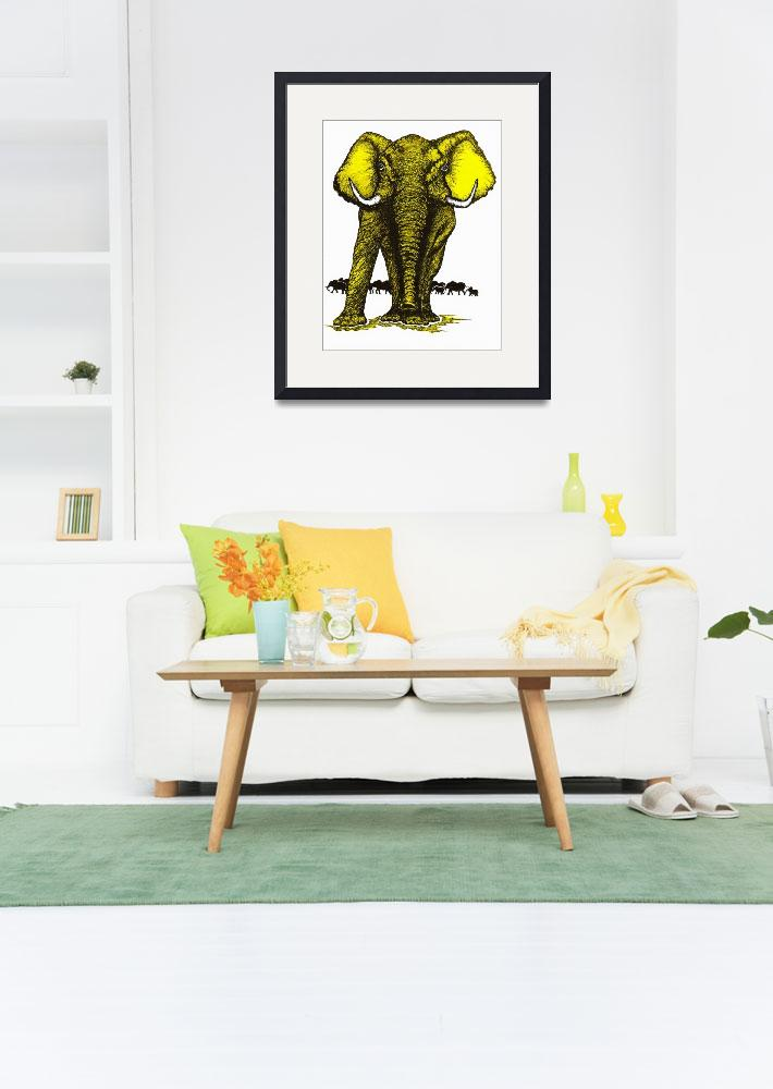 """Elephant Guard-Yellow&quot  (1990) by OgleWarfield"