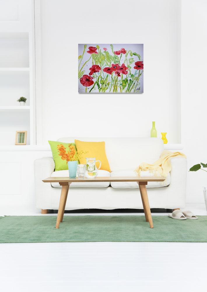 """poppy flower yupo painting&quot  (2008) by derekmccrea"