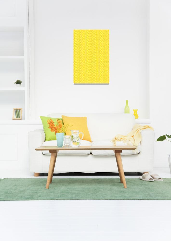 """Yellow Zebra Print Pattern""  (2017) by ValeriesGallery"