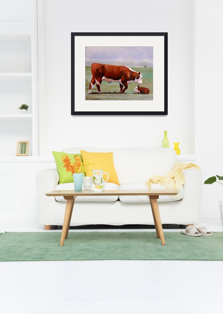 """""""Hereford Mom&quot  (2008) by ToniGrote"""