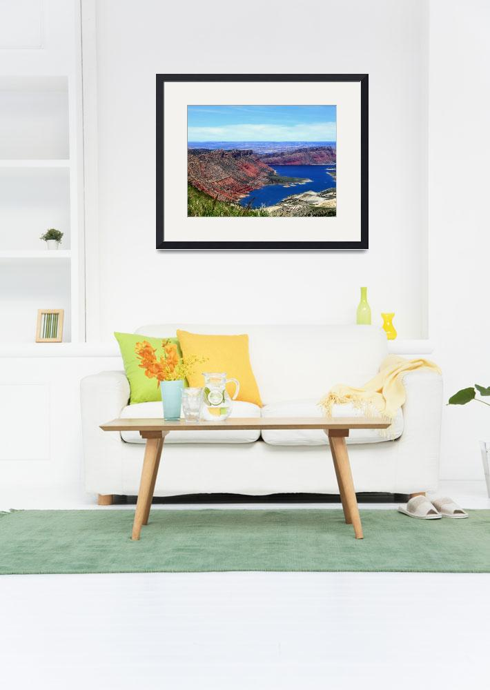 """""""Flaming Gorge&quot  by AllYourPrints"""