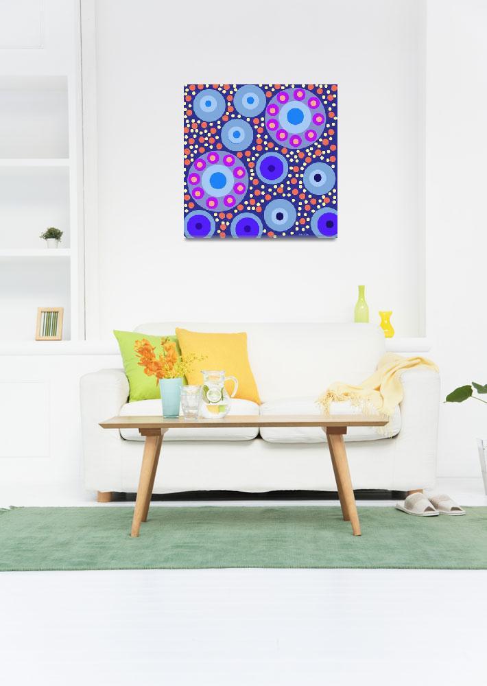 """""""Blue Circles""""  (2013) by vikrambagga"""