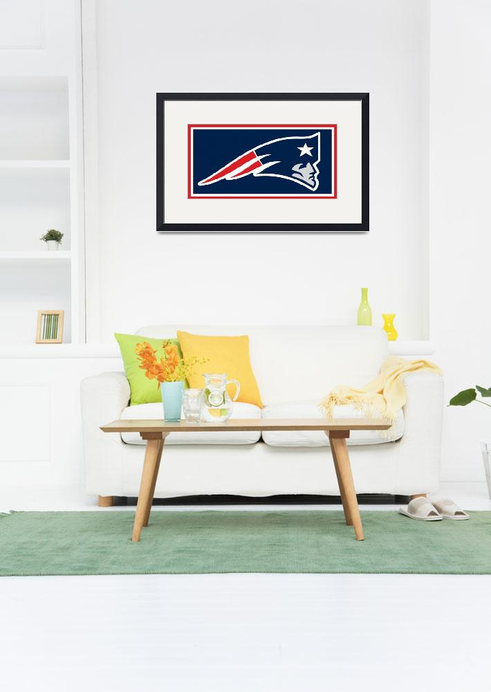 """""""New England Patriots&quot  (2015) by RubinoFineArt"""