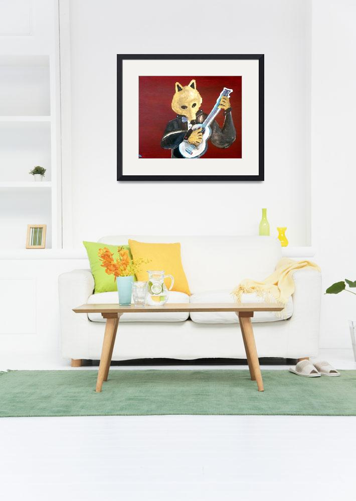 """""""Dire Wolf Playing Guitar""""  by Polylerus"""