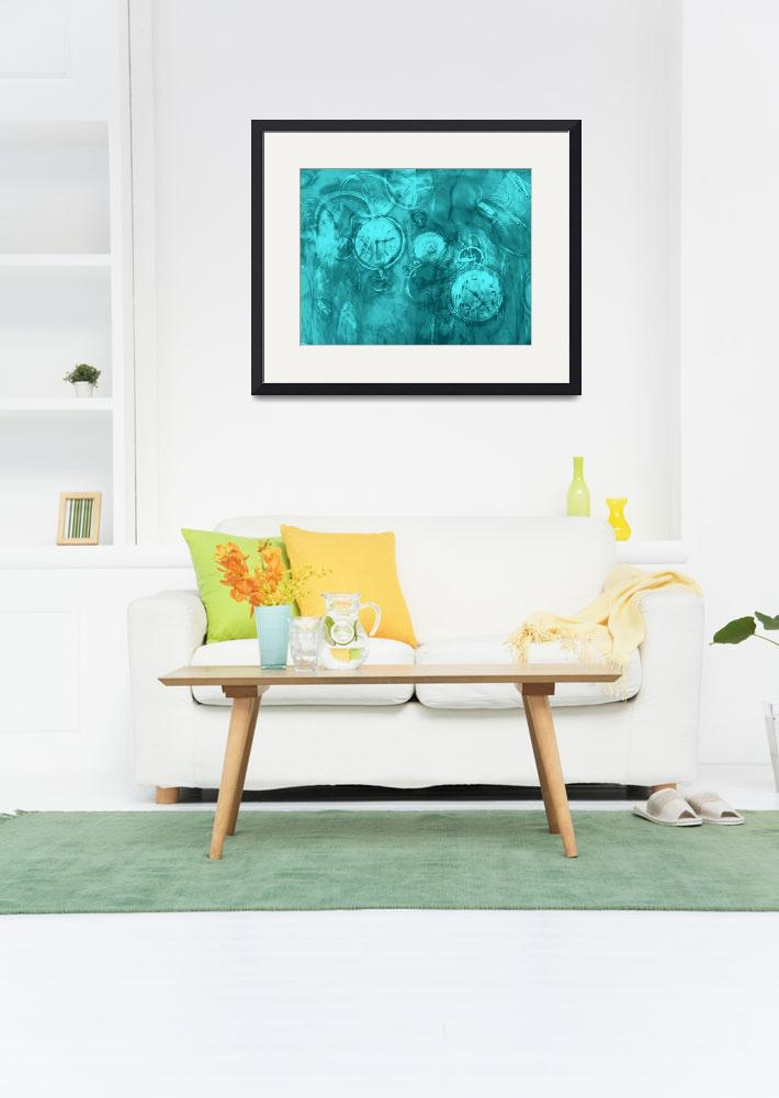 """""""Stitch in Time in Turquoise Blue""""  by LyndaLehmann"""