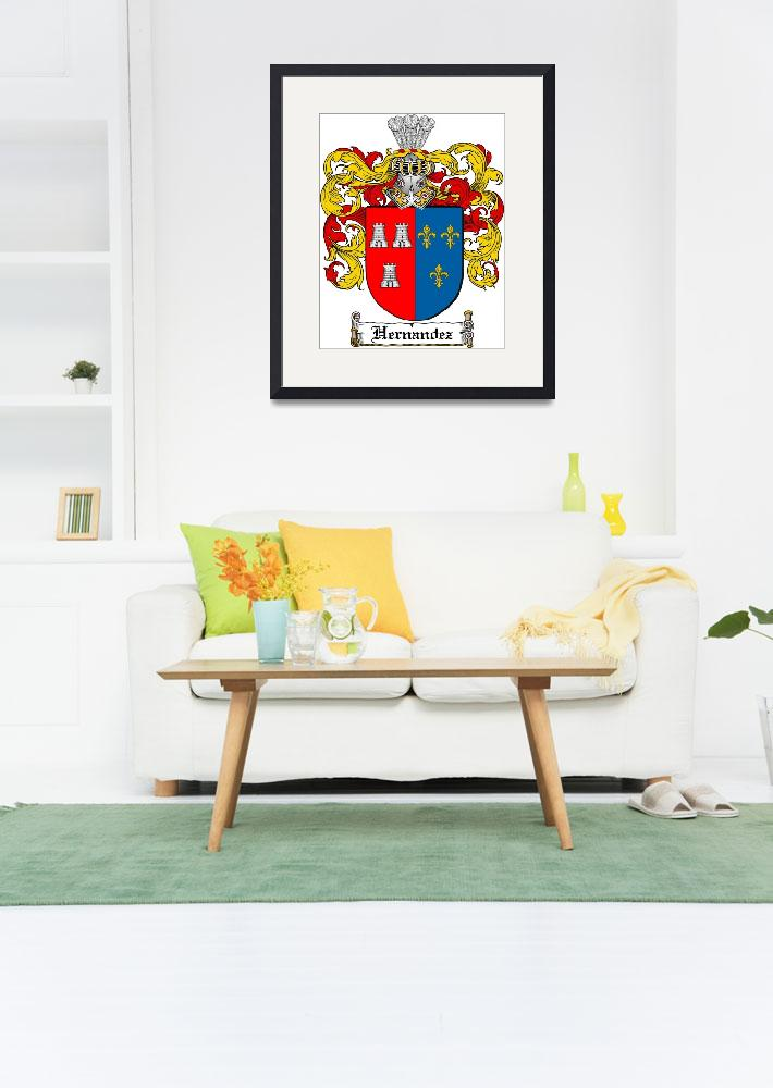 """""""HERNANDEZ FAMILY CREST - COAT OF ARMS&quot  by coatofarms"""