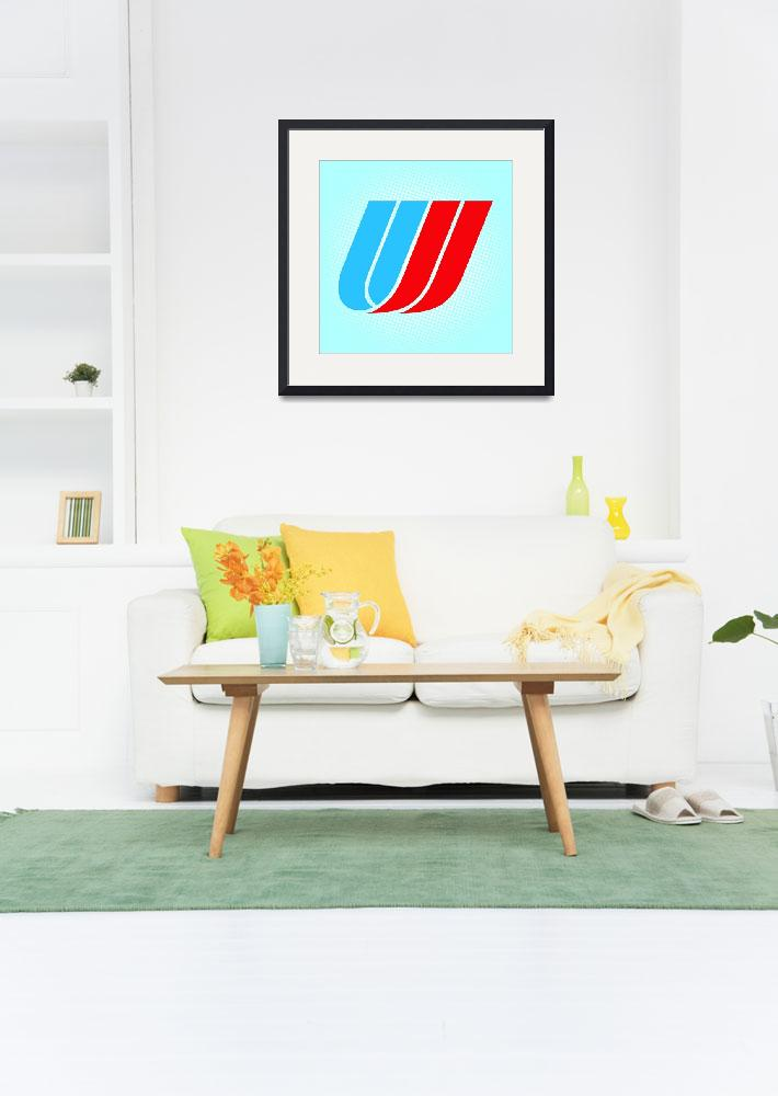 """U-United_Airlines&quot  by LetterPopArt"