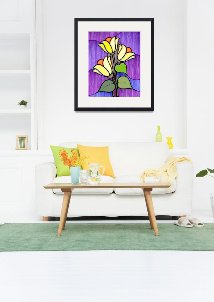 """""""Plant and flower""""  (2009) by digitalpainting"""