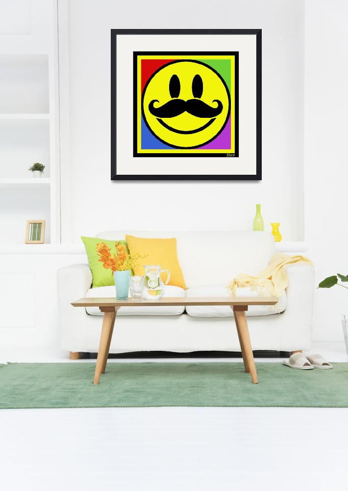 """""""Mustache Smile&quot  (2013) by RubinoFineArt"""