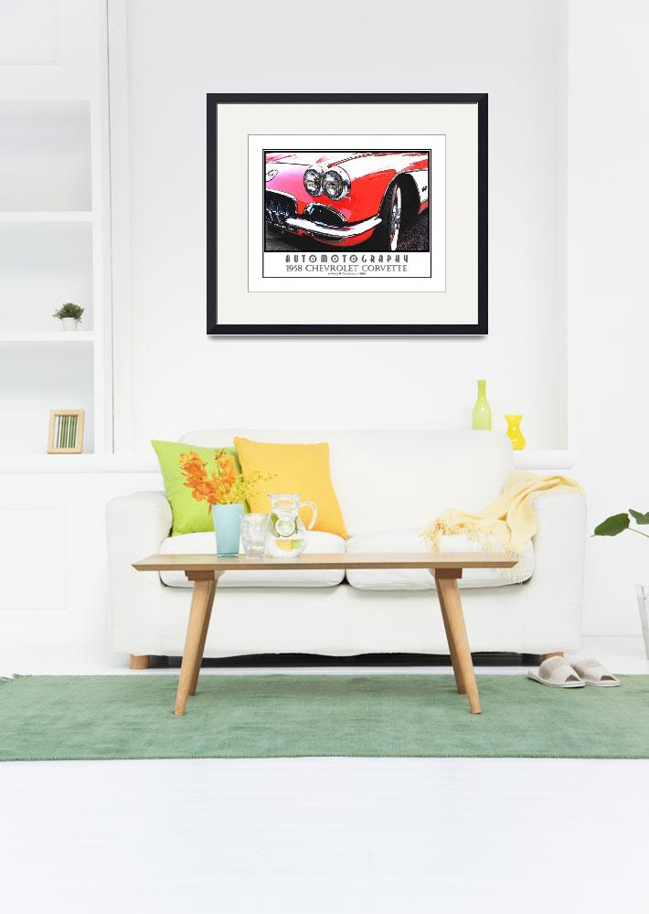 """1958 Chevrolet Corvette Poster&quot  (2008) by Automotography"