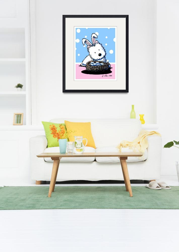 """""""Easter Bunny Westie&quot  (2009) by KiniArt"""