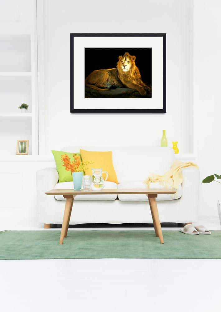 """""""The Lion 201502113-2brun&quot  (2017) by wingsdomain"""