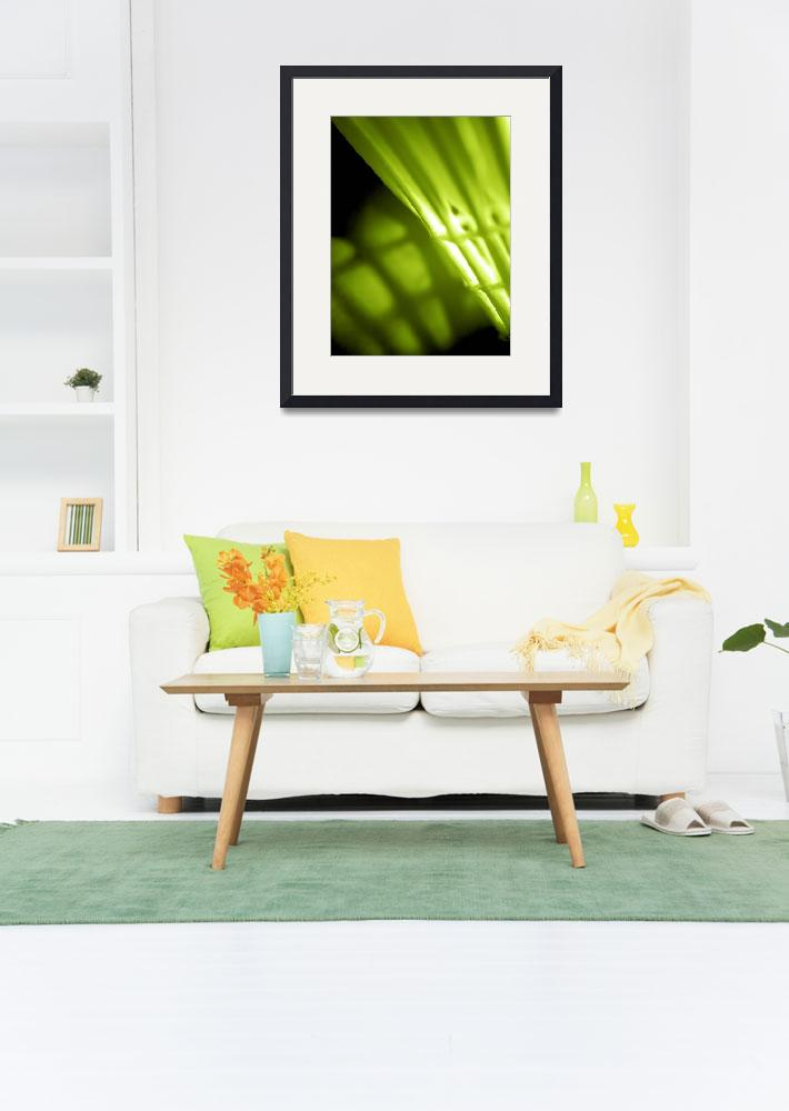 """Lime Green Abstract Wal lArt&quot  by NatalieKinnear"