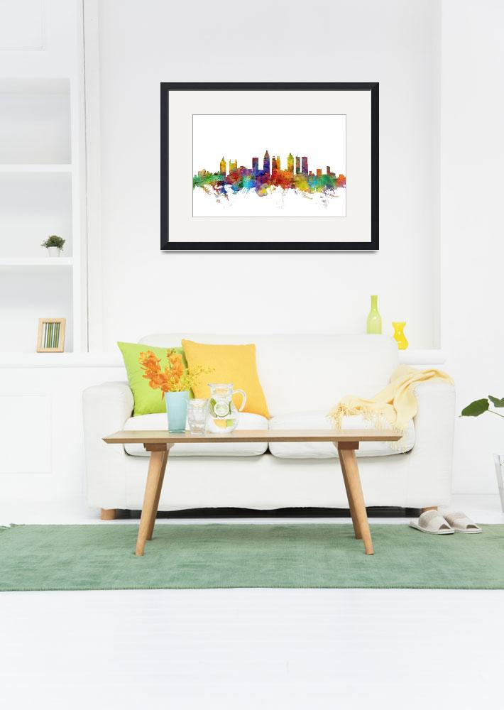 """Atlanta Georgia Skyline&quot  (2018) by ModernArtPrints"