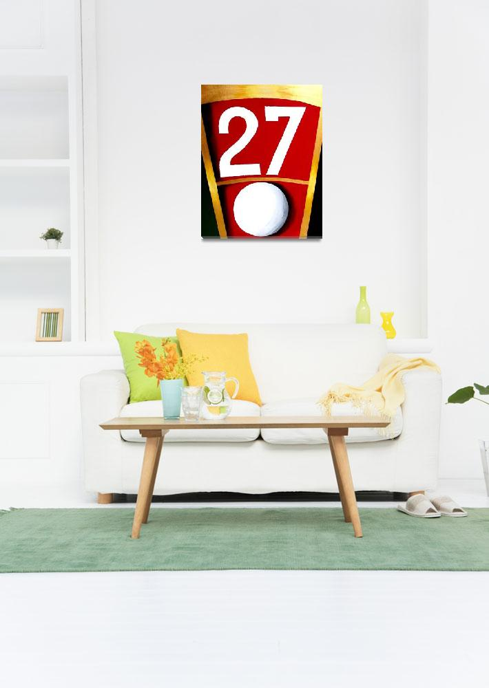 """""""ROULETTE NUMBER 27 RED CASINO DECOR&quot  (2011) by teofaith"""