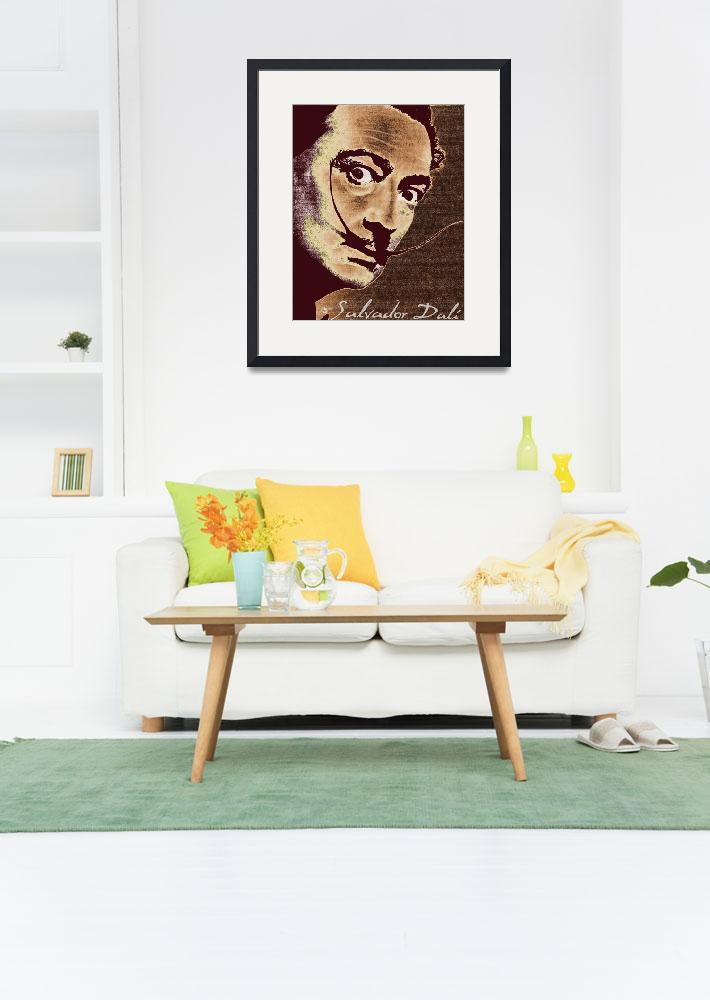 """""""Salvador Dali Pop Art Painting And Signature""""  (2017) by RubinoFineArt"""