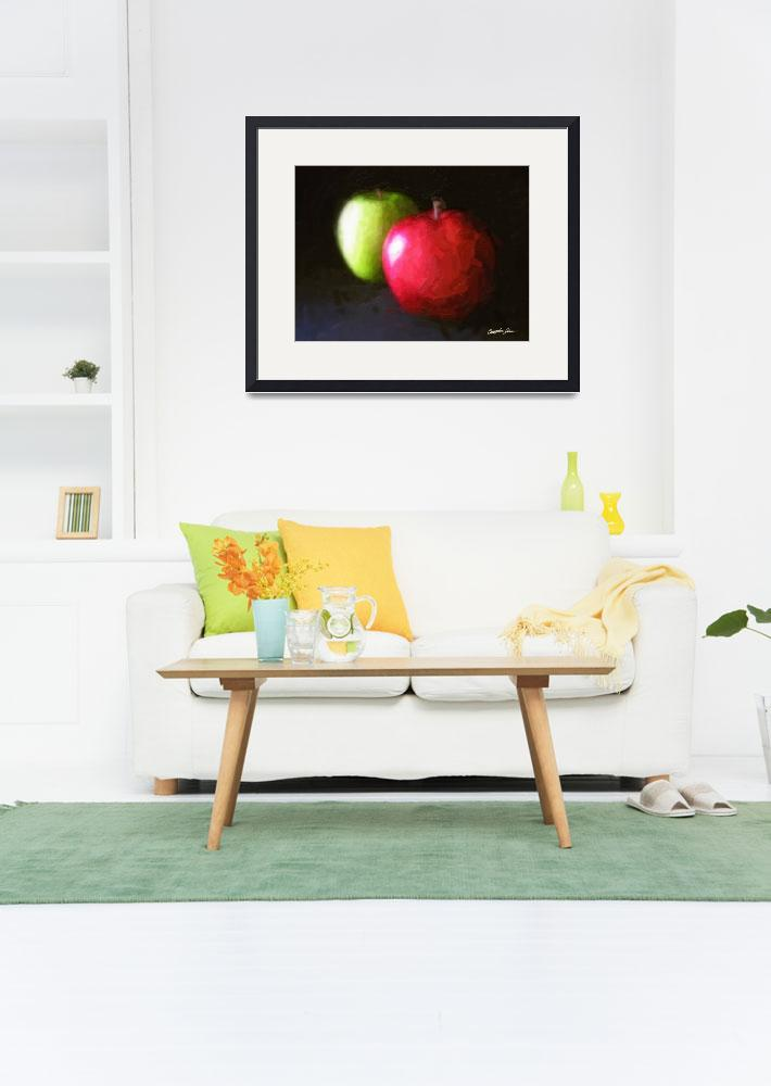 """Red and Green Apples 3 Painterly&quot  (2010) by ChristopherInMexico"